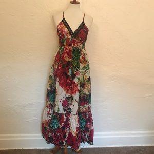 Cotton maxi dress. Size medium.